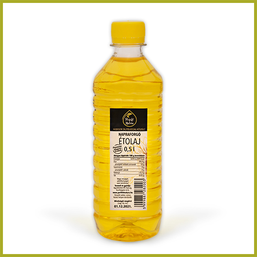 Hidegen sajtolt Napraforgó olaj – 500 ml