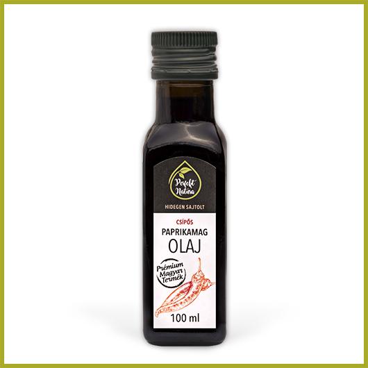 Hidegen sajtolt Csípős paprikamag olaj – 100 ml